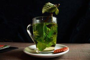 taza de té con menta