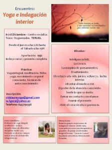 Cartel del retiro de diciembre -vidalaurayoga.es